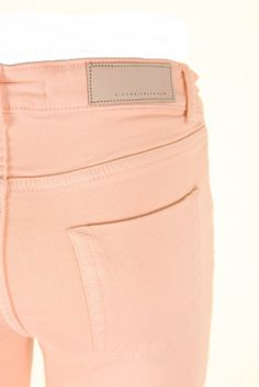 peach denim