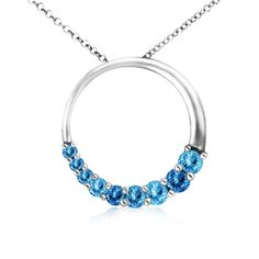 Aquamarine Circle Journey Pendant | Fashion Trends