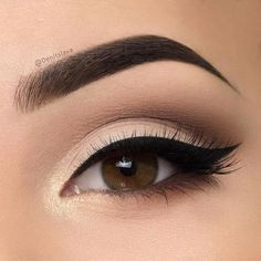 Natural eye look with perfect brows and a perfect wing.