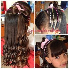 peinadoscolorin's Instagram photos | Pinsta.me - Explore All Instagram Onlinebraid Cute Girls Hairstyles, Creative Hairstyles, Down Hairstyles, Pretty Hairstyles, Braided Hairstyles, Cool Hair Designs, Ribbon Hairstyle, Girl Hair Dos, Travel Hairstyles