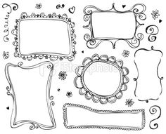 Doodle frames to write on a chalk board wall :)