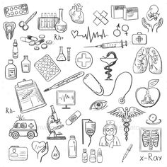 Buy Health Care and Medicine Doodle by on GraphicRiver. Health care and medicine icon set with typography. Health Icon, Health Care, Mental Health, Health Goals, Women's Health, Public Health, Oral Health, Doodle Drawings, Doodle Art