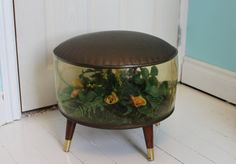 Inflatable Terrarium Foot Stool Ottoman with Faux by mrstwigg, $70.00