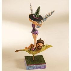 Pixie-be-witched from our Jim Shore Disney Traditions collection Halloween Fairy, Disney Halloween, Cemetary Decorations, Peter Pan And Tinkerbell, Disney Traditions, Fairy Figurines, Disney Collectibles, Cute Drawings, Pixie