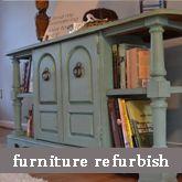 DIY furniture refurbish using paint and stain tutorial.