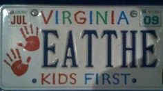 Eat the kids first, haha! Funny Cute, The Funny, Hilarious, I Love To Laugh, Make Me Smile, Just For Laughs, Just For You, Cool License Plates, Haha