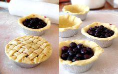 mini blueberry pie recipe