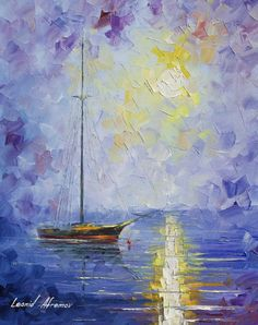 WINDLESS DAY - Original Oil Painting On Canvas By Leonid Afremov http://afremov.com/BOUQET-OF-HAPPINESS-Original-Oil-Painting-On-Canvas-By-Leonid-Afremov-20-x24-50cm-x-60cm.html?utm_source=s-pinterest&utm_medium=/afremov_usa&utm_campaign=ADD-YOUR