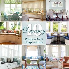 View these 10 Dreamy Window Seat Inspiration Photos. Then get the tutorial to build your own bay window seat with built in storage.
