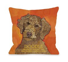 Bentin Pet Decor Doodle 2 Pillow, 16 by 16-Inch ** Want additional info? Click on the image.