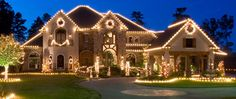 Christmas Lights on House colorful lights outdoors pretty snow nights decorate christmas decorations