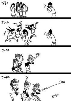 Taking photos during the years