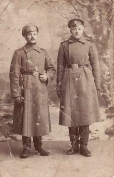 WWI Russian Imperial Soldiers, dated 1915