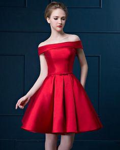 vestido raso rojo                                                                                                                                                     Más