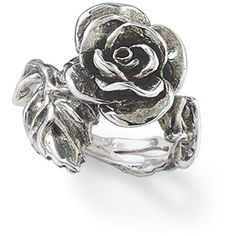 Antiqued Sterling Silver Rose Vine Ring ($60) ❤ liked on Polyvore featuring jewelry, rings, special occasion jewelry, sterling silver rings, vine ring, cocktail rings and cocktail jewelry