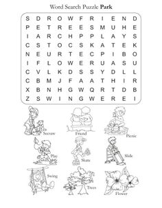 Word Search Puzzle Park | Download Free Word Search Puzzle Park for kids | Best Coloring Pages