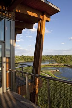 Nice detail + view.  DuPont Environmental Education Center | GWWO Architects | Archinect