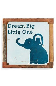 PONCHO & GOLDSTEIN Poncho & Goldstein 'Dream Big Little One' Sign available at #Nordstrom