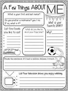 Student Survey ~ Interest Inventory by Lisa Lilienthal First Day Of School Activities, 1st Day Of School, Beginning Of The School Year, Middle School, Back To School Ideas For Teachers, All About Me Activities, Student Interest Survey, Student Survey, Student Goals