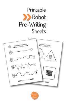 Robot Pre-Writing Printable - Create in the Chaos Preschool Writing, Free Preschool, Preschool Learning, Fun Learning, Preschool Activities, Teaching, Pre Writing Practice, Writing Skills, Robot Theme