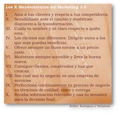 Los 10 mandamientos del Marketing 3.0