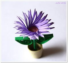 Nits Arts and Crafts: Tiny Quilled Flower Pots Quilling Flower Designs, Quilling Images, Quilling Patterns, Quilling Cards, Paper Quilling, Quilling Ideas, Paper Art, Paper Crafts, Diy Crafts