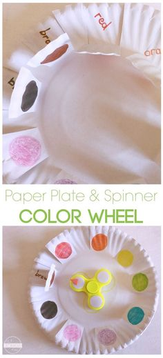 Color Wheel Fidget Spinner Activity - super clever activity with lots of games to go along with it for toddler, preschool, prek, and kindergarten age kids.