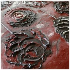 DIY Textured Art Using Joint Compound/Spackling Paste artwork craft, crafting canvas