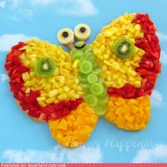 Butterfly pizza, yum!