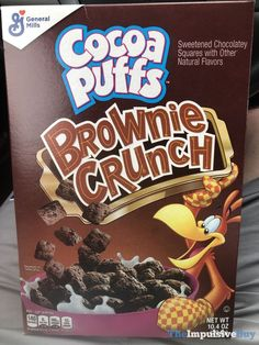 New Cereal, Crunch Cereal, Granola Cereal, Types Of Cereal, Impulsive Buy, Cocoa Puffs, Cereal Killer, Brownie Batter, Snack Recipes