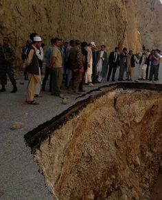 A sinkhole in Afghanistan