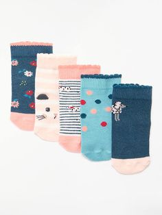 John Lewis 3 pair pack Comfort Top Socks