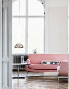 Minimal Pink Living Room I Never Thought I Would Be So In Love With A Pink  Sofa, But This Vintage Design Teamed Up With Minimal And Clean Room Is  Right Up ...