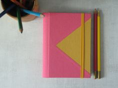 2015  Custom Color Triangle Weekly Planner by ArteeLuarBookbinding, €26.00