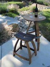 Custom Furniture Made From Recycled Wine Barrels Hand Crafted In Paso Robles Ca