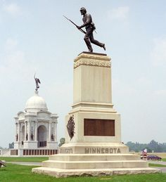 Larger of two monuments to the First Minnesota Infantry Regiment at Gettysburg