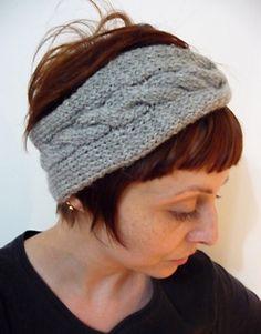 Turbante de tricô com trança
