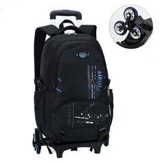 Backpacks Trolley Schoolbag Luggage Removable 6 Wheels