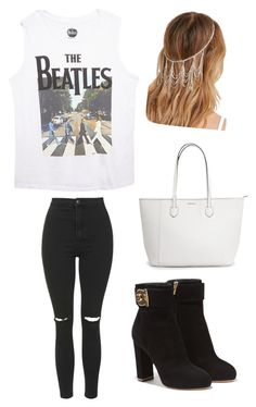 """beatles concert"" by sarawilliams485 ❤ liked on Polyvore featuring Wet Seal, Topshop, Salvatore Ferragamo and Forever 21"