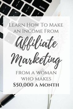Learn how to make an income from Affiliate Marketing from a woman who makes $50,000 a month from affiliate income! Affilate link.