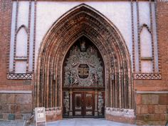 West portal of St. Nicholas' Church in Stralsund, Germany Cool Doors, Unique Doors, Portal, St Nicholas Church, Window Detail, Grades, Main Door, Through The Window, Grand Entrance