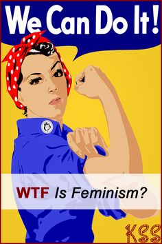 """Personally I feel the term """"feminist"""" gets thrown around way too much. If you think the definition of a feminist means you are better than a man you are completely missing the point. What Is Feminism, Blues, Lose Weight, Weight Loss, Visualisation, We Can Do It, Women In History, 30, Girl Power"""
