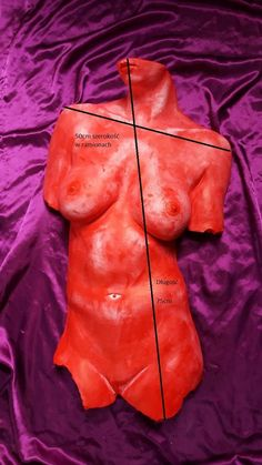 "Sculpture - ""Red Brust"". - casting a bust. Act nudity one original."