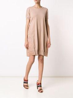 Nº21 vestido de punto con panel de encaje