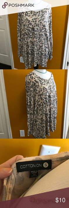Cheetah leopard print top Cheetah leopard print shirt top.  Check out my other items to Bundle and save on shipping. Tags for exposure: free people Anthropologie urban outfitters brandy melville Victoria's Secret pink bohme buckle Cotton On Tops