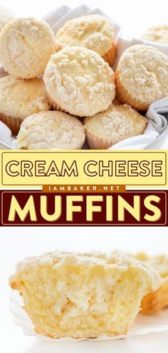 Cream Cheese Muffins are nothing short of perfection! This breakfast muffin recipe has a cream cheese swirl and a perfect crumb topping. They also make a great back-to-school breakfast for the kids! Save this pin. Deserts With Cream Cheese, Recipes Using Cream Cheese, Healthy Cream Cheese, Cream Cheese Coffee Cake, Easy Cream Cheese Desserts, Strawberry Cream Cheese Muffins Recipe, Nutella Cream Cheese, Cream Cheese Breakfast, Cream Cheeses