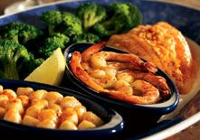 Red Lobster's Create Your Own Feast … R1&3 or R1: Combine any two of the following items and 1/2 side (30-60g) … Garlic-Grilled Shrimp •Garlic Shrimp Scampi* • Maine Lobster Tail • Rockzilla* • Rock Lobster Tail • Seafood-Stuffed Flounder • Snow Crab Legs - 1/2 pound • Snow Crab Legs - 1 pound* • Wood-Grilled Fresh Salmon* • Wood-Grilled Peppercorn Sirloin*