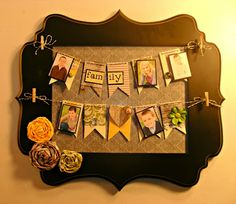 cute frame idea!  Could swap out images for the holidays