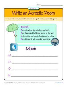 acrostic poem examples for kids poetry resources poems acrostic poem for kids teaching poetry. Black Bedroom Furniture Sets. Home Design Ideas