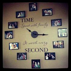 Clock out of photos. such a cute idea.
